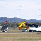 Mudgee Airshow 2018-Pitts VH-PVB & flying bike by muz2142
