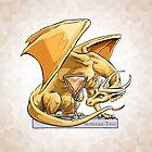 Birthstone Dragon: November Topaz Illustration by Stephanie Smith