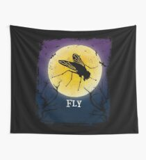 Fly Halloween Vintage Art Flies Insect Lover Wall Tapestry