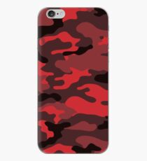 Rote Camouflage iPhone-Hülle & Cover