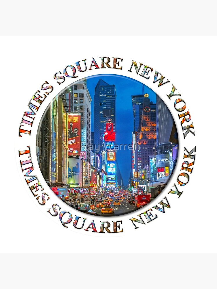 Times Square Broadway (New York Badge Emblem on white) by RayW