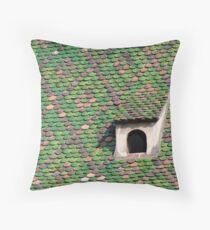 Green Tiled Roof Throw Pillow
