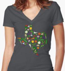 Farm Fresh Texas Women's Fitted V-Neck T-Shirt