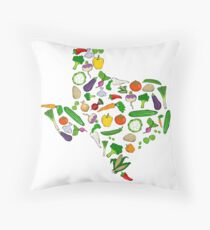 Farm Fresh Texas Throw Pillow
