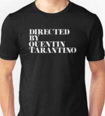 Regie führte Quentin Tarantino Schwarz / Weiß Slim Fit T-Shirt