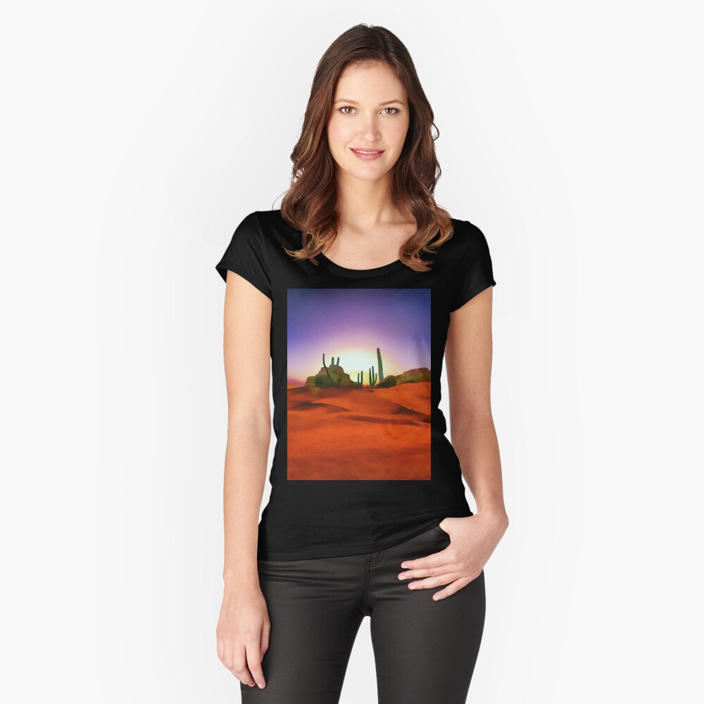 Desert Sands Fitted Scoop T-Shirt
