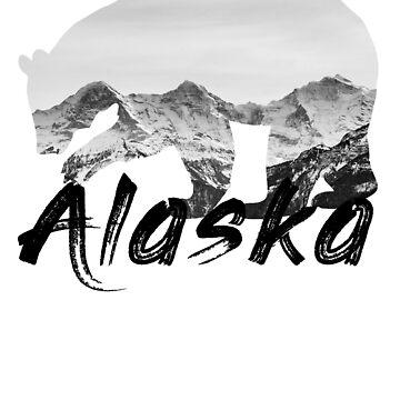 Mountains Bear Alaska Gift Last Frontier Alaska Gift by YuliyaR