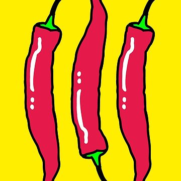3 Spicy Red Chili Peppers by theshirtshops