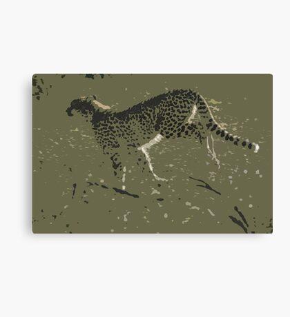 Cheetah running - Photo Art Canvas Print