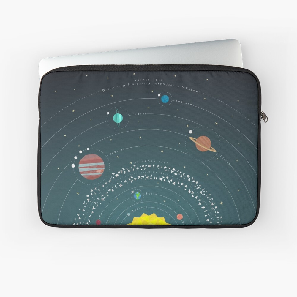 Solar System Laptop Sleeve Front