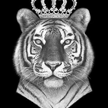 The Tiger King on black by kodamorkovkart