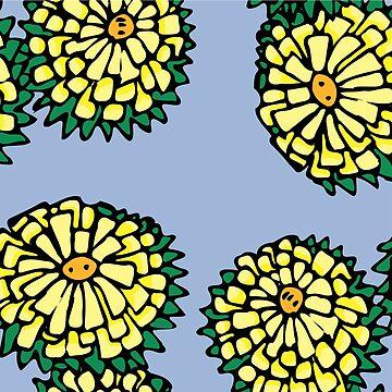 Yellow flowers by cartoonblog
