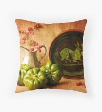 Still Life with Peppers Throw Pillow