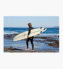 SURFER - NEWCASTLE BEACH NSW AUSTRALIA Photographic Print