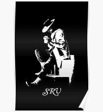 SRV-Stevie Ray Vaughan-Number one - Guitar-Blues-Rock-legend 3 Poster