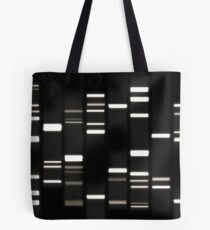 DNA Art White on Black Tote Bag