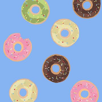 Colorful doughnuts, happy donut by Buno
