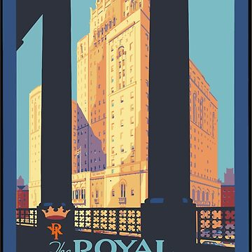 Vintage Travel Poster Toronto Canada by G-Design