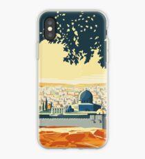 Vintage Travel Poster Visit Palestine iPhone Case