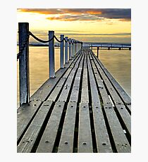 Walk the golden plank Photographic Print