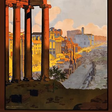 Vintage Rome Travel Poster by G-Design
