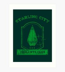 Starling City Vigilante Club 2 Art Print