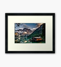 Photography wallpaper landscape Italy Framed Print