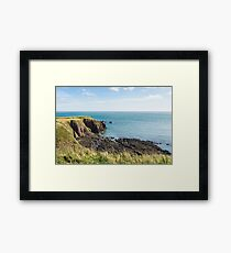 Silence and Solitude - Calm North Sea from the Cliffs in Aberdeenshire Scotland  Framed Print