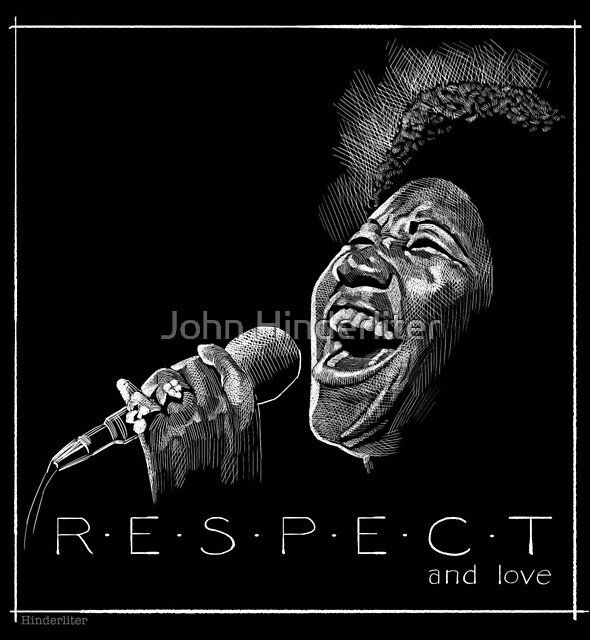 Aretha Franklin by John Hinderliter