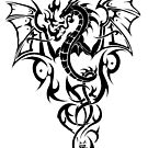 Tribal Dragon Tattoo 5 by kracov