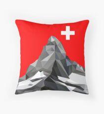 Switzerland Matterhorn Throw Pillow