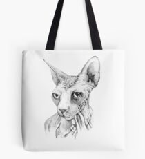 Sphynx cat, black and white Tote Bag