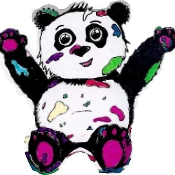 Colourful Panda - In a world of black and white: make your own rainbow by Zucalaczio