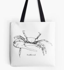 Fieddler crab, black and white Tote Bag