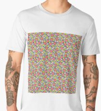 Simple Geometric Floral Men's Premium T-Shirt