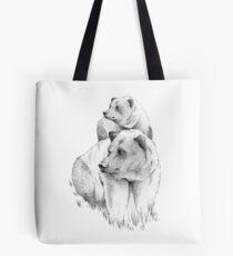 Bears, black and white Tote Bag
