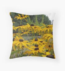 Flowers by the duck pond.  Throw Pillow