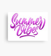 Summer Vibes | Calligraphy Canvas Print