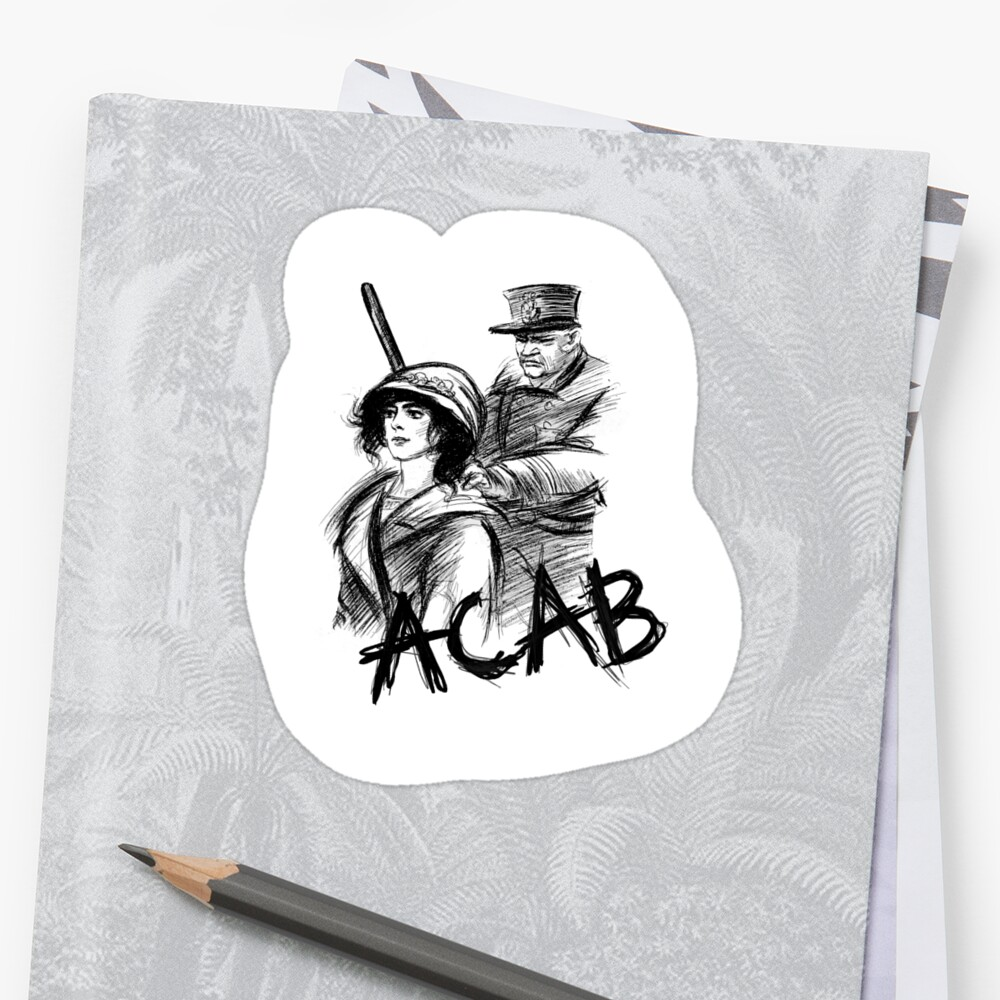 """""""ACAB"""" Stickers By Rosaluxemburg"""