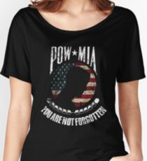 POW MIA American flag you are not forgotten distressed design 2 Women's Relaxed Fit T-Shirt
