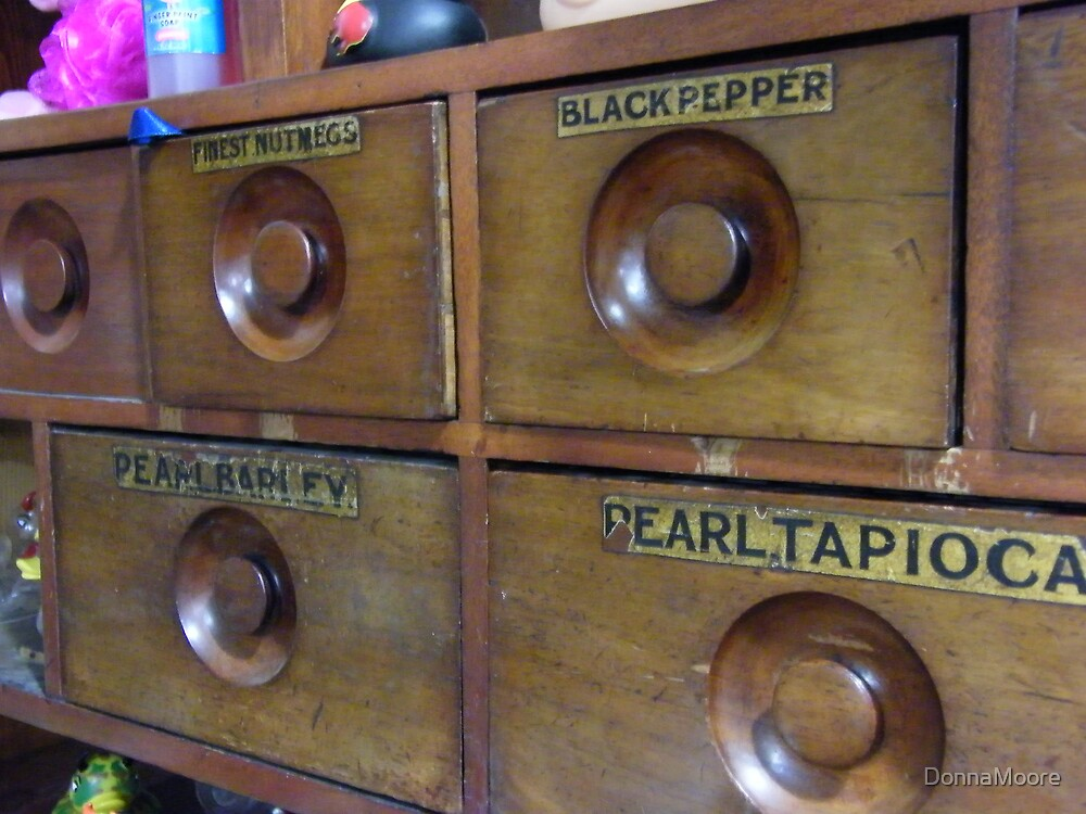 Old general store spice drawers.... by DonnaMoore