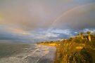 Rainbow over Buller Bay, Westport by Paul Mercer