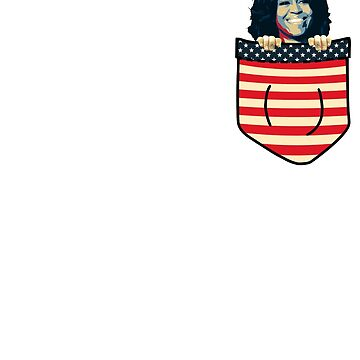 Michelle Obama Chest Pocket by idaspark