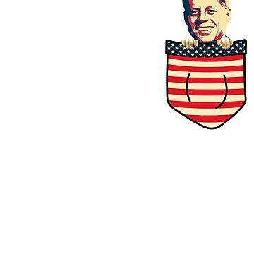 John F Kennedy Chest Pocket by idaspark