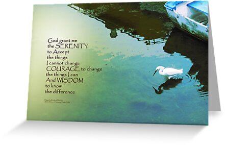 Serenity Prayer Water and White Bird by serenitygifts