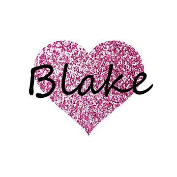 Blake Pink Heart by Obercostyle