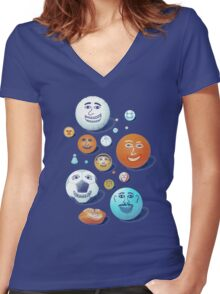 LAST FRIENDS ON EARTH Women's Fitted V-Neck T-Shirt