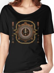 Steampunk Vintage Clock, Pipes and 'Stuff' Women's Relaxed Fit T-Shirt