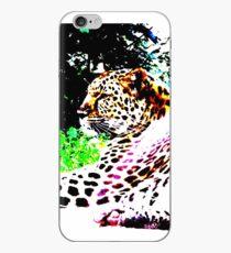 Stylized leopard design iPhone Case