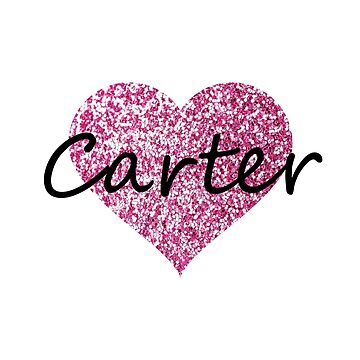 Carter Pink Heart by Obercostyle